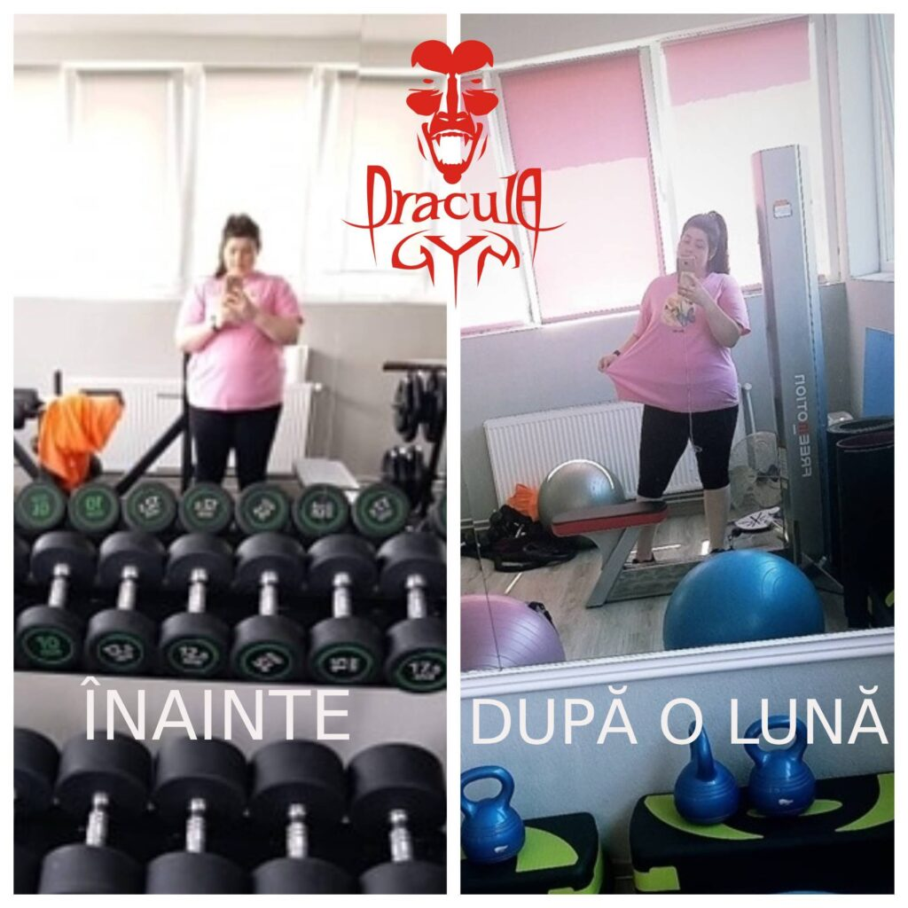 Maria Marincas a slabit 7,5 kilograme intr-o luna la sala de fitness Dracula Gym